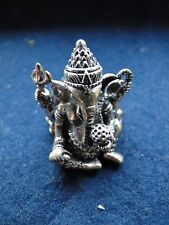 And Detail, Nice Hindu Piece Ganesh Ring, Sterling Silver, Great Quality