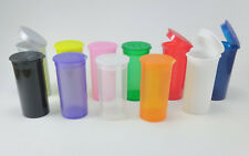 13 DRAM: New Empty RX Pop Top Pill Bottles - All Colors and Quantities