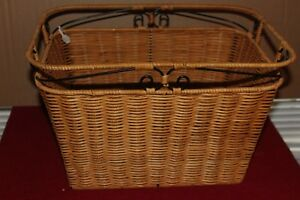 "L 2176 Princess House Casual Home Handwoven Organizer Basket Large 16""X12""X10"""