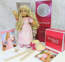American Girl CAROLINE DOLL + Meet Outfit Accessories Books Blonde Blue Eyes Box