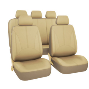 PU Leather Car SUV Seat Covers 9 Pieces For Front & Rear Interior Accessories