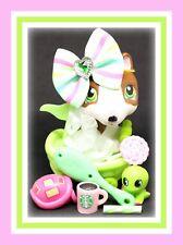 ��Authentic Littlest Pet Shop Lps #154 Chocolate Bull Terrier Puppy Dog Skirt��