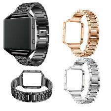Stainless Steel For Fitbit Blaze Diamond Bracelet Watch Band Strap Metal Frame