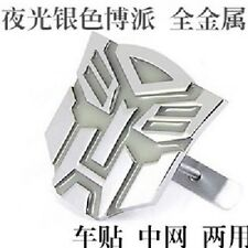 Car Metal Luminous Light Grille Badge Emblem Transformers Autobot Silver