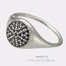 Authentic Pandora Sterling Silver Black Crystal Large Pave CZ Ring Size 60  (9)