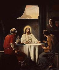 Oil painting The Last Supper Christ Jesus with his Followers The Road to Emmaus