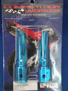 CW SUZUKI GSXR 600 750 RF 600 1992 1996 PASSENGER BLUE FOOT PEG PEGS 2GPS4-B