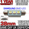 SAMSUNG 3 SMD LED 38mm 239 272 C5W CANBUS NO ERROR WHITE NUMBER PLATE LIGHT BULB