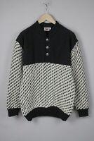 BOUVIAC NORWAY Men's LARGE 100% Shetland Wool Chunky Pullover / Sweater 17935_JS
