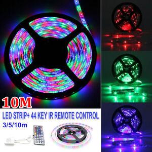 3/5/10M LEDs Stripe Strip IR Remote Controller Lights Lamp Fixture Fairy Bright