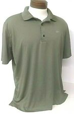 Men's Greg Norman Ml75 Play Dry (L) Green Shark Shirt Golf/Sport