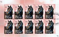 Australia 2013 Black Caviar champion racehorse stamp sheetlet 10 CTO MNH Scarce!