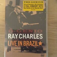 RAY CHARLES: LIVE IN BRAZIL (O-Genio)  DVD  2  rare full concert sets 1963