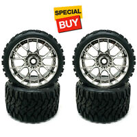 Sweep Racing SRC Monster Truck Terrain Crusher Belted Tire Silver Wheel (4) Set