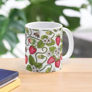 Strawberries & Honey Bees Pattern Mug