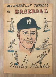 1957 MICKEY MANTLE - MY GREATEST THRILLS IN BASEBALL COMIC - NEW YORK YANKEES