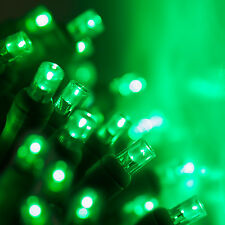 Case of 24 100 count 5 mm LED Christmas Light String Green Color