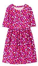 Nwt Gymboree Girls Mix N Match Pink Geometric Knit Dress Size Xl 14
