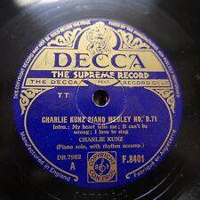 78rpm CHARLIE KUNZ medley D.71