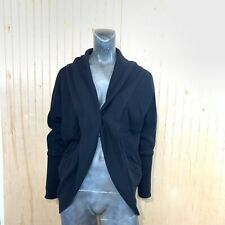 Wilfred Women Medium Diderot Sweater Open Front Cardigan Long Cocoon Black Stud