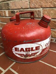 Vintage Eagle Gas Can 2 1/2 Gallon Metal