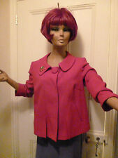 M & S Smart Cherrry red jacket Size 12, worn twice, lined in excellent condition