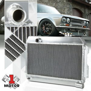 Aluminum 2 Row Core Performance Radiator for 68-73 Datsun 510/1600/2000/521 SR