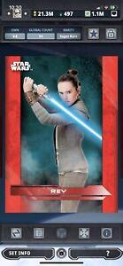 Topps Star Wars Digital Card Trader Red TLJ Physical Base Rey Insert Award