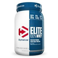 Dymatize ELITE 100% WHEY PROTEIN 2 lbs, 26 Servings PICK FLAVOR