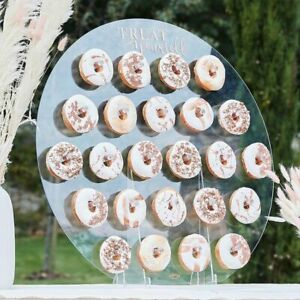 Ginger Ray Round Acrylic Wedding Party Donut Wall & Stand
