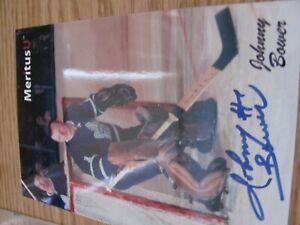 Johnny Bower nhl 4 x 6 Toronto Maple Leafs Autographed