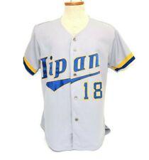 vtg 90s Rawlings Lipan High School Indians gray game used baseball jersey 46