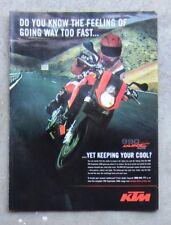 KTM 990 SUPER DUKE 2006 Motorcycle Magazine Page Sales Ad Advertisement Brochure
