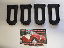 4 GUARNIZIONI PER DISTANZIALI PARAURTI FIAT 500 F L R C0682/G
