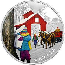 2017 - 1/2 oz. Proof Canadian Silver Iconic Canada- Sugar Shack Coin (Box + COA)