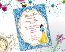 Personalised Disney Snow White Princess Birthday Party Invitation A6 Girls + Env