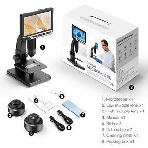 "4.3''/ 7"" Digital Microscope HD LCD Camera 1000x/2000x Amplification Magnifier"