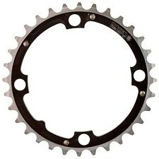 Origin-8 Chainring 104mm 32T Ramped 4 Bolt Black /Silver