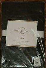 2pc Set  Pottery Barn Belgian Flax Linen Standard Pillow Shams ~ Ebony