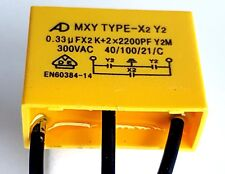 AD Safety capacitor X2 Y2 300vAC (0.33uF group1) + 2x (2200pF  group 2) –ref:793