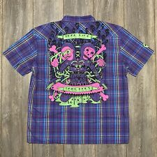 IRON FIST VOUS DEUX S/S SHIRT ELECTRIC BLUE PLAID (XL)