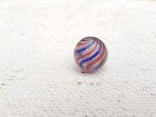 "1920s Vintage Original Handmade Latticinio Swirls 0.9"" Glass Marble Germany"