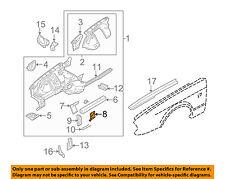 JAGUAR OEM 95-03 Vanden Plas Fender-Tube Support Bracket Left FNC2601AA