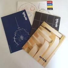 Möbel Design artek Kataloge Messekataloge Skandinavisch 70/80er Jahre 4 Stück