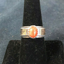 Vintage Sterling Silver & 14kt Gold Aventurine Ring by Carolyn Pollack Size 8