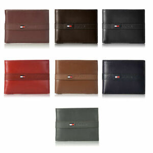 New Tommy Hilfiger Bifold Ranger Passcase Wallet With 6 Credit Card Pockets