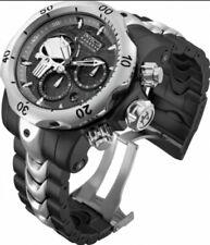 Invicta Reserve Lt Ed Marvel Punisher Skull Venom Swiss Mvt Watch Military Biker