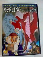 DVD MERLINO E I DRAGHI EDIZIONE RESTAURATA CONTIENE ANCHE IL MISTERO DEL FOLLETT