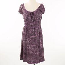 Sahalie Dress Size Small Purple Black Empire A Line Knit Stretch