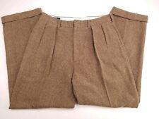 Polo Ralph Lauren Wool Tweed Pleat Harringbone Trouser Pants Vtg USA Mens 33x31